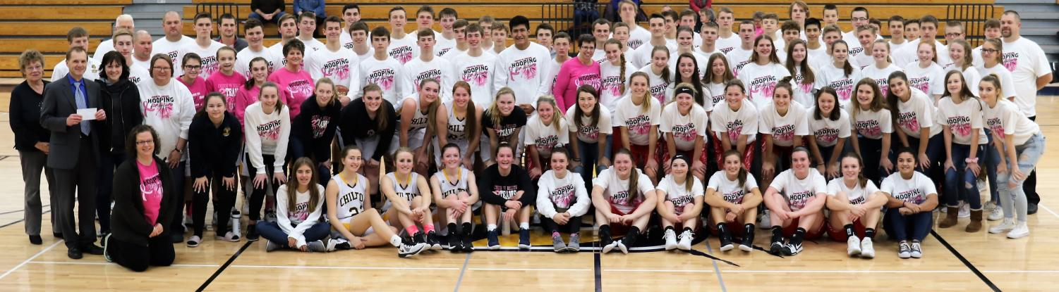 The Chilton and Brillion boys and girls basketball programs united Friday, December 14th at CHS's gym for their annual Hooping for a Cure campaign. Proceeds from the event are donated to Ascension Calumet Medical Cancer Center.
