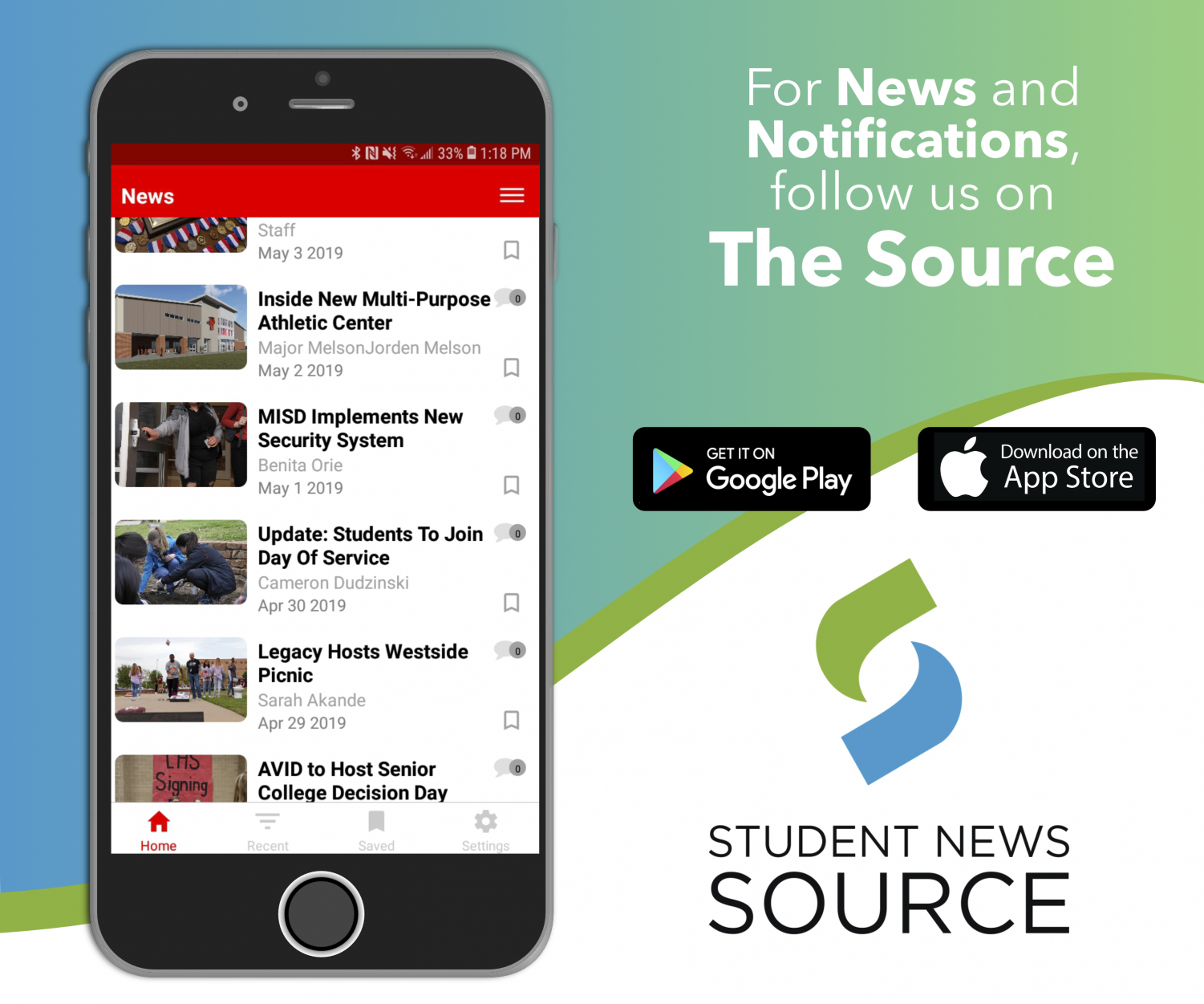 """To receive The Prowler's latest content as soon as it's posted, download the Student News Source app--for free--from your app store. Then look up and select Chilton High School. Lastly, click """"Get Started."""""""