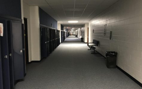 The CHS hallways are mostly empty during the state-mandated school closure due to COVID-19. Mrs. Stephanie Bartels, a science teacher, said,