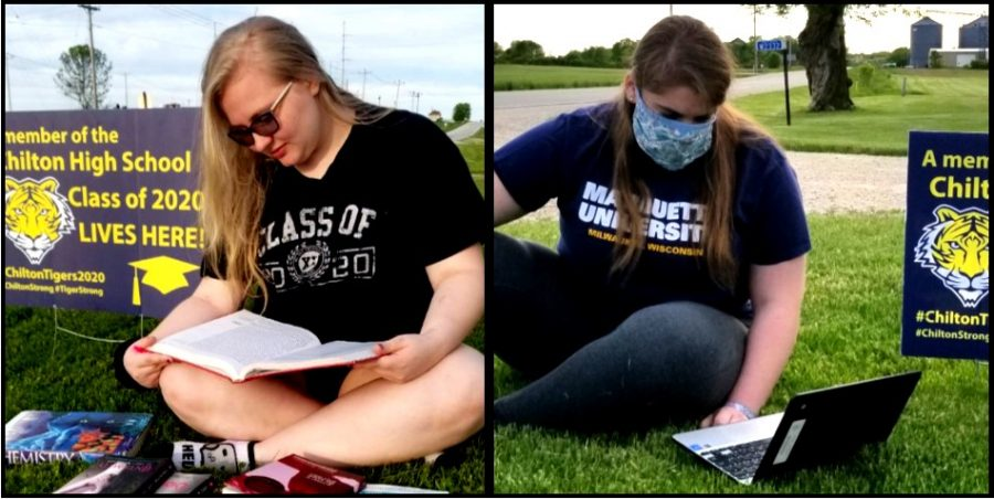 Seniors Shianne Berger and Isabell Kopf have demonstrated one of the benefits of the pandemic and the resulting closure of brick and mortar schools: students