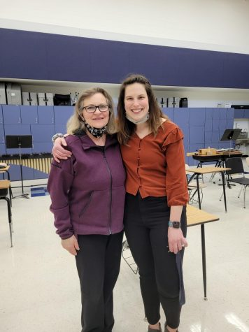 Photo by Claudia Brown  Ms. Michelle Kochan (right) is joined on the CHS forensics team coaching staff by her mother, Mrs. Kathy Kochan. Ms. Josephine Annelin (not pictured) is also a new forensics coach this year.